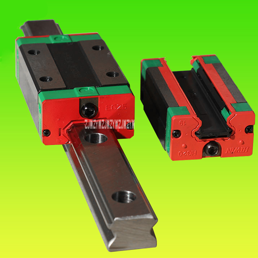 New Linear Guide Square Open Type Slider , HGH25CA Slider (Square) + HGW25A Slider (Flange type) + HGR25R * 3000 / 1700mm Rail large format printer spare parts wit color mutoh lecai locor xenons block slider qeh20ca linear guide slider 1pc