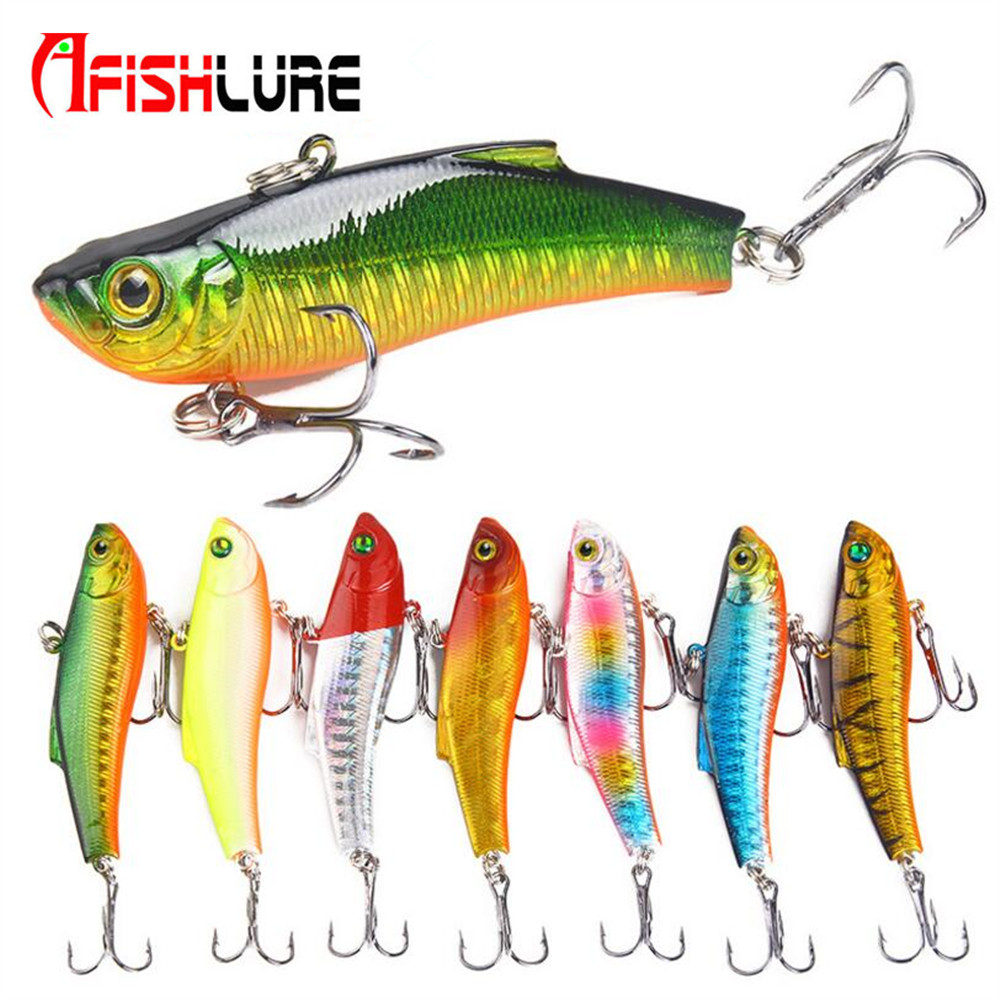 1 PCS 7cm 18g 7 Colors PVC Winter Sea Hard Fishing Lure VIB Bait With Lead Inside Diving Swivel Jig Wing Wobbler Crank Bait цены
