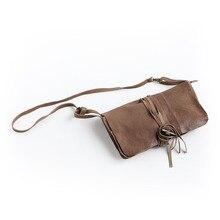 2016 Promotion New Women Silt Pocket Casual Zipper Handmade Small Sheepskin Bag Genuine Leather Shoulder Handbag Women's Packet