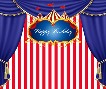 HUAYI 8x8ft Photography Backdrop birthday Photo Studio Props Dessert table decoration Banner circus Backdrop W-322
