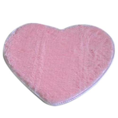 אופנה מודרני דקורטיבי שאגי לב רך פו פרווה שטיח עור כבש שינה קיד בנות מחצלת ורוד