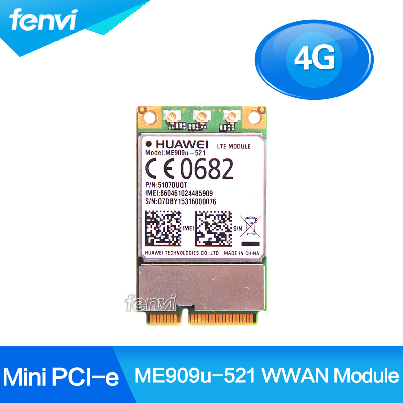Unlocked Huawei ME909u-521 FDD LTE Mini pcie 4G Wireless WWAN Communication DEGE GPRS GSM HSPA HSPA+ GPS PCI-E Module Tested telit ln930 dw5810e m 2 twh3n ngff 4g lte dc hspa wwan wireless network card for venue 11