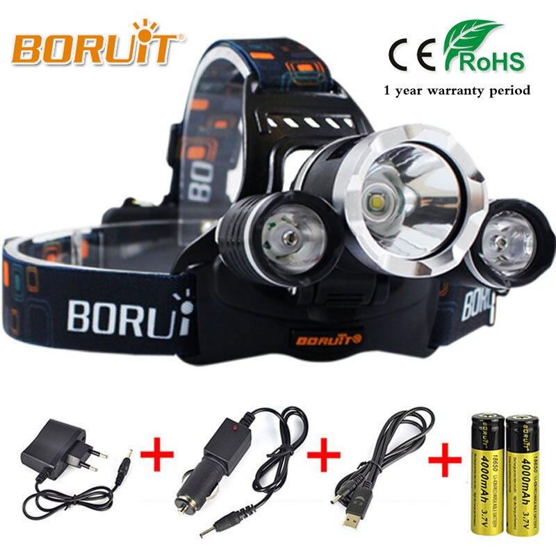BORUIT 8000LM L2 LED Headlight Multi Mode Upgraded glitter Headlamp For Outdoor camping Hunting fishing Top Head light RJ-5000 glitter cami top