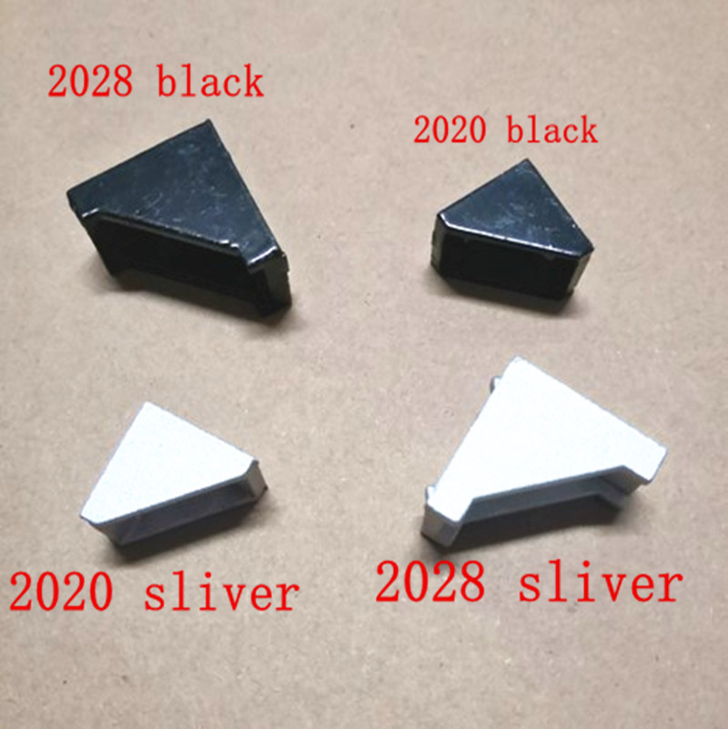 20pcs 10pcs 2020 Or 2028 Black And Sliver  Bracket  Aluminum Profile Corner Fitting Angle For 2020 Aluminum Profile