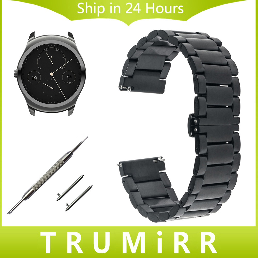 20mm 22mm Quick Release Watch Band for Ticwatch 1 46mm / 2 42mm / E Butterfly Buckle Strap Stainless Steel Wrist Belt Bracelet stainless steel watch band 16mm 18mm 20mm for hamilton quick release strap butterfly buckle wrist belt bracelet spring bar