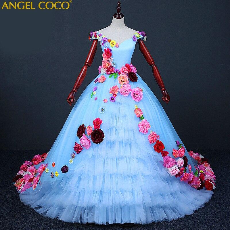 Роскошные принцессы с цветочным рисунком вечернее платье для девочки халат De Soiree бисером красивые детские костюм пол Длина платье Великий ...
