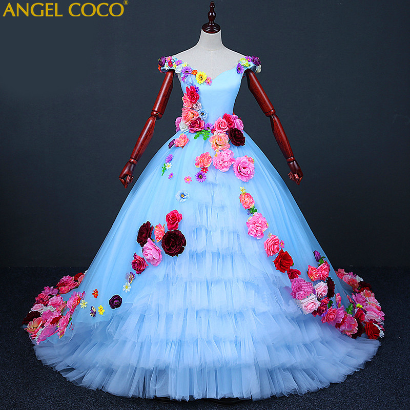 Luxury Princess Flower Girl Evening Dress Robe De Soiree Beaded Beautiful Childrens Costume Floor Length Gown Great Gatsby Dress