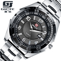 2016 Waterproof Calendar Fashion Sport Men Watch Mens Casual Full Stainless Steel Quartz Watches Men Boutique Wristwatch Relojes