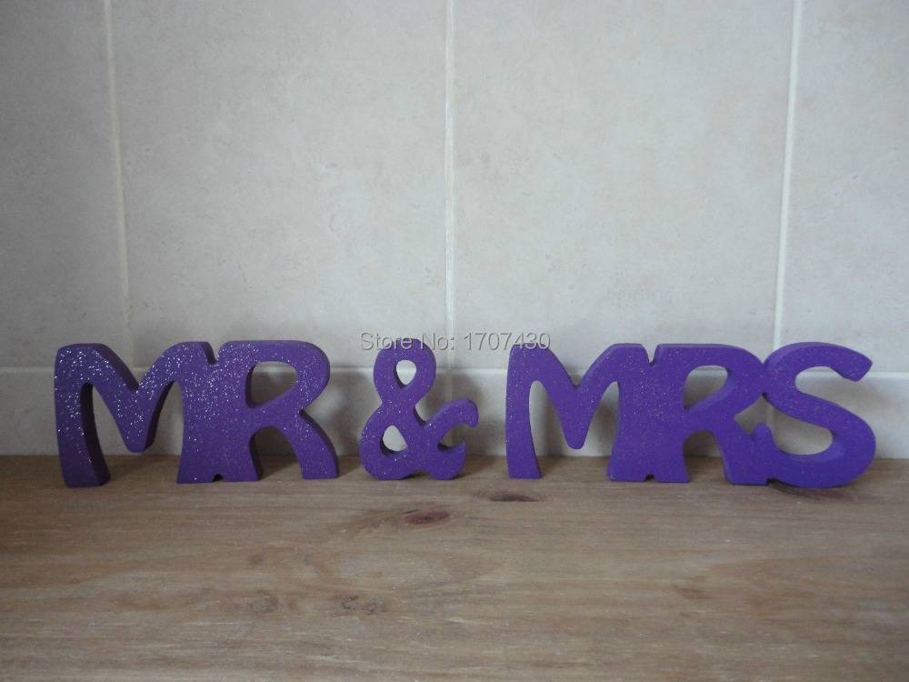 Mr And Mrs Large Wooden Letters: MR AND MRS MR & MRS WEDDING SIGN WOODEN LETTERS TOP TABLE