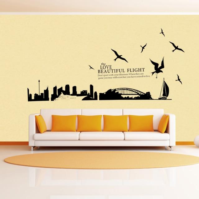 Free shipping Sydney City of Australia wall art stickers bedroom ...