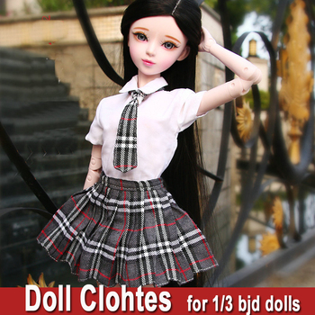 Handmade Doll Clothes for Dolls Fashion School Uniform Girl Dress for 55-60cm or 1/3 Bjd Jointed Doll Toys Dolls Accessories 1 3 bjd girl doll high quality handmade dress with outfit shoes wig hat makeup 60cm bjd sd dolls silicone reborn bjd dolls toys