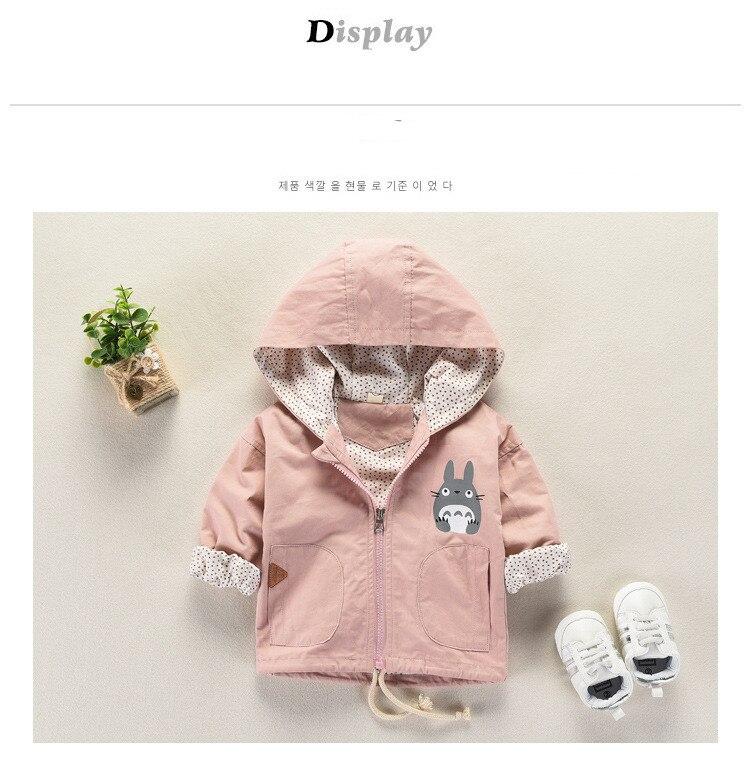 do bebê crianças totoro com capuz outwear