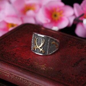 Image 4 - Vintage ouro & prata cor amante anéis para mulher muçulmano árabe islâmico médio oriente religioso jóias punk legal antigo presente