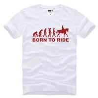 Eevolution Born To Ride Horse Riding Printed Mens Men T Shirt Tshirt 2016 New Short Sleeve