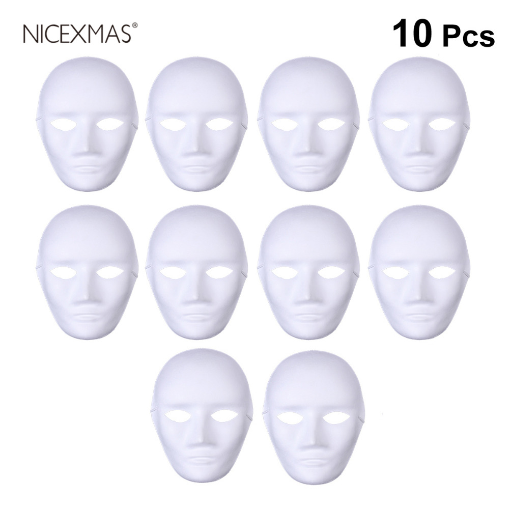 10Pc Full Face Safe Blank Masks Cosplay Accessory DIY Costumes Ghost Masquerade For Children Arts & Crafts DIY Toys