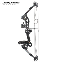 Archery 30 50lbs Compound Bow in Black Aluminum Alloy Slingshot Bow with Peep Sight for Outdoor Hunting Shoot