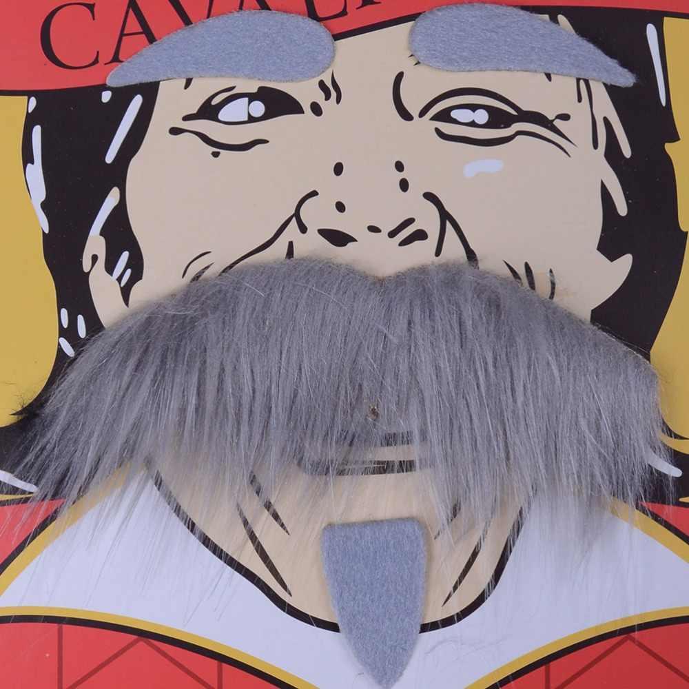 1Set Del Partito Del Costume Cosplay Barba Facciale Dei Capelli Travestimento Nero Baffi Decorazione Del Partito