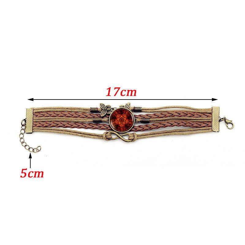 2018 новый красный пентаграмма времени браслет с драгоценными камнями мужские браслеты модные женские Сердце Бабочка Шарм Ювелирные Браслеты Аксессуары