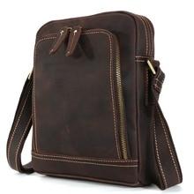 2017 Retro Vintage font b Leather b font Satchel handmade Bags For Men Small Shoulder Bags