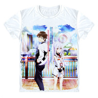 PLASTIC MEMORIES T Shirt Japan Anime T Shirt Tsukasa Mizugaki Intelligent Robot Love Story Custom Clothing