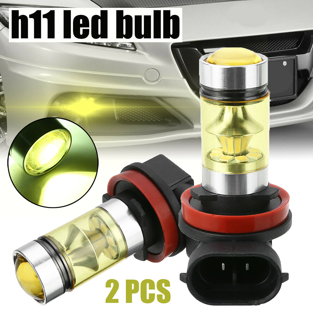 Car Fog Lights 2pcs Led Bulb Daytime Running Foglights H11 H8 12V 1000K High Power Lamp 2835 20SMD Auto Leds Bulbs Car