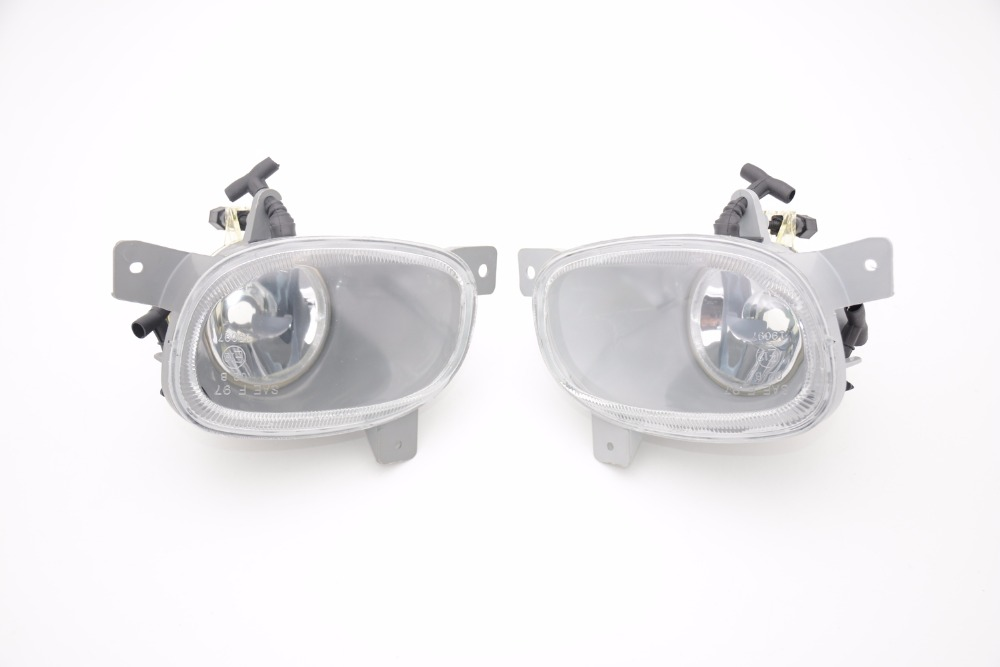 1Pair Car Clear Front bumper fog light driving lamp Without Bulbs LH & RH for 1999-2006 VOLVO S80 1pair rh and lh front fog lights bumper driving lamps without bulbs for honda accord sedan 1998 2002