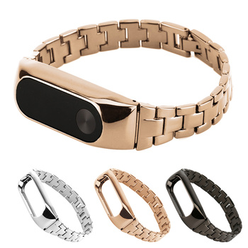 Gosear Slim Stainless Steel Watchband Wristband Watch Wrist Replacement Strap Banda for Xiaomi Xiomi Xiao Mi Band Miband 2 Band2