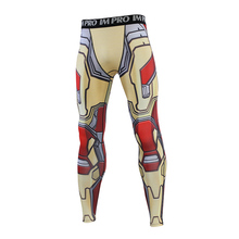 2019 New The Avengers iron Man MK-42  3D Compression Pants Printed Men Cosplay Quick-drying clothes For Gyms