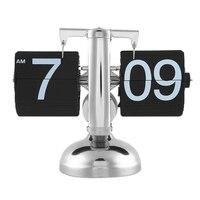 Presente original Retro Agradável Desk Parede Auto Flip Clock Número Novo Design Simples e Moderno