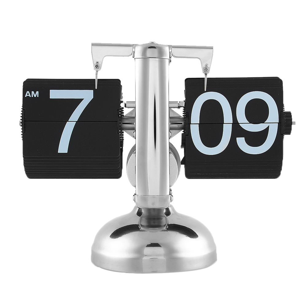 Eerlijk Unieke Gift Retro Leuk Desk Muur Auto Flip Klok Nummer Nieuwe Ontwerp Eenvoudige Moderne