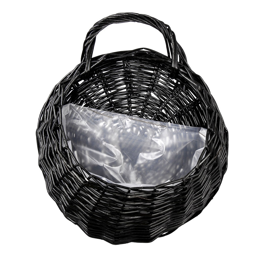 23*18 см ваза контейнер балкон гостиная плантатор эко-Frendly гнездо цветочный горшок Настенный декор Ручная работа подвесная корзина - Цвет: black