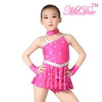 MiDee Jazz Dance Costume Dresses Dance Cha Cha Recital Solo Performance Dance Dress Salsa Costume