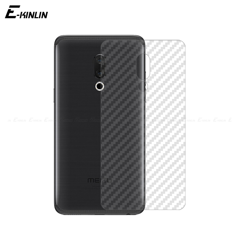 Soft 3D Carbon Fiber Protective Back Film For <font><b>MeiZu</b></font> X8 M8c M8 16T <font><b>16</b></font> 16th 16S <font><b>Pro</b></font> 15 Plus Lite Rear Screen Protector No Glass image