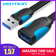 Vention USB Extension Cable USB 3.0 Cable for Camera PC PS4 Xbox Smart TV High Speed Charger&Data USB 3.0 2.0 Cable Extender(China)