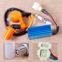 CITALL Performance Ignition Coil Spark Plug Wire 6 Pin CDI Box for GY6 50cc 70cc 125cc