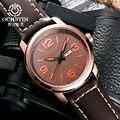 Nuevo Real 2016 Marca Ochstin Hombre Reloj de Los Hombres Fecha de Pulsera de Cuero Reloj de Cuarzo Ocasional Relojes Deportivos Relogio Del Ejército Militar masculino