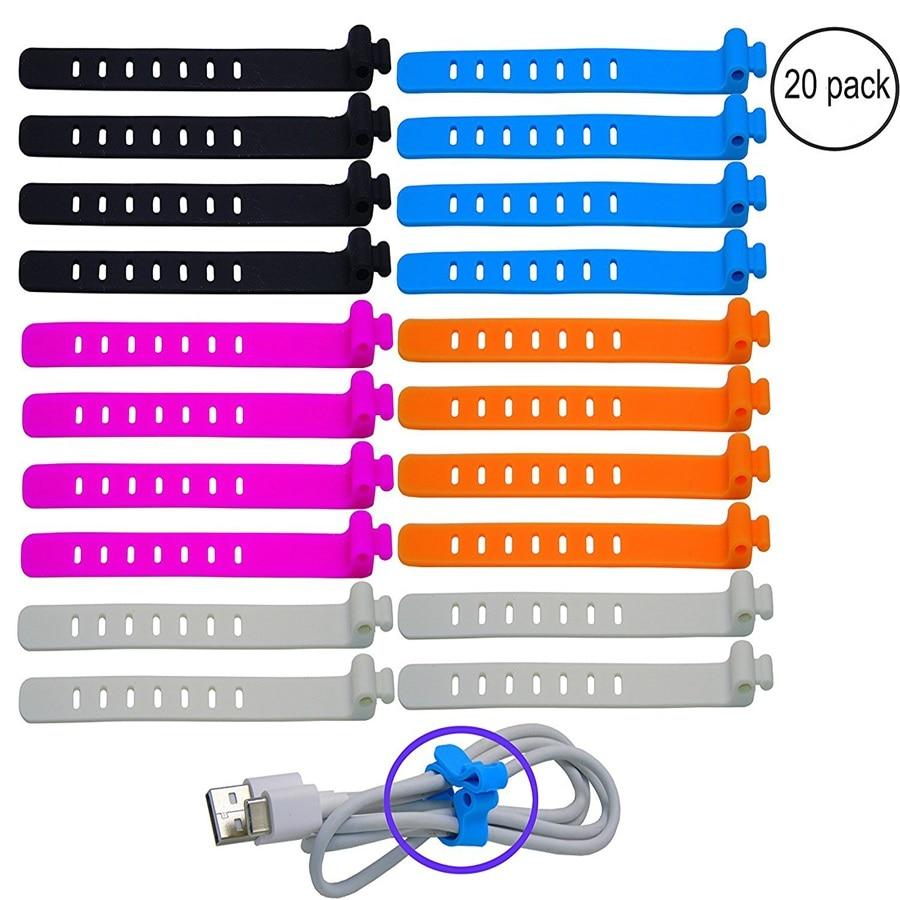 100% Food Grade Silicone Bag Ties Cable Management  reusable Zip Tie Twist Multi-use Bag Clip Food Saver tpe170 reusable pe plastic cable management ties black 50 pcs