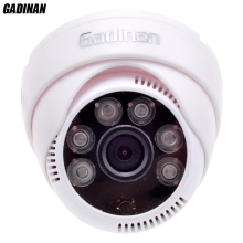 Gadinan 720P / 960P IP Camera PoE Mini Dome Indoor 1.0/1.3 MP PoE Cable 6pcs Array IR Leds 3.6mm Lens IR Cut Filter ONVIF