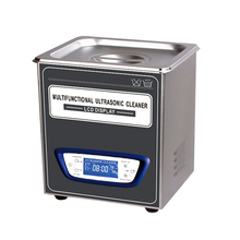 Multifunctional Ultrasonic Cleaner With LCD Display 2L 70w heating function in different styles made of stainless steel by dhl