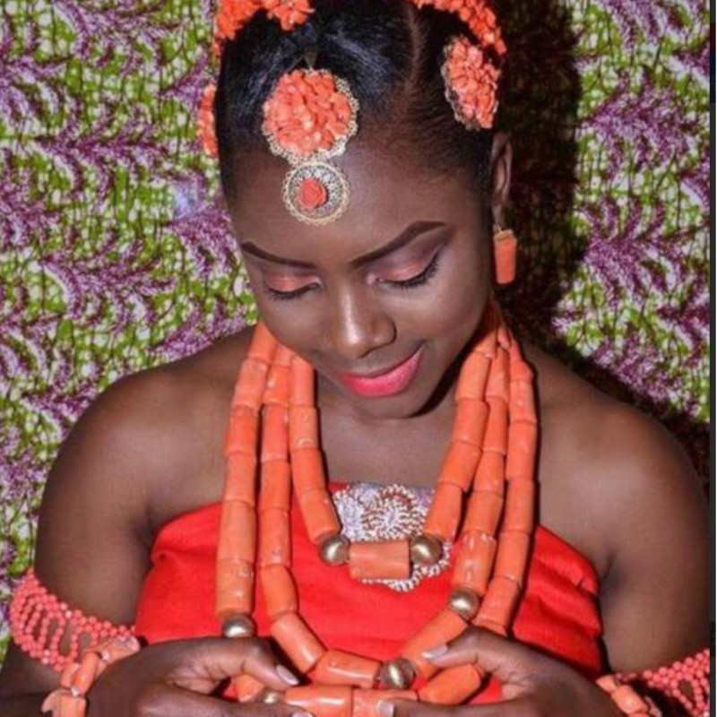Luxury Wedding Jewelry Sets African Beads Necklace Earring Sets for Women Orange Coral Nigerian Jewellery Set Luxury Wedding Jewelry Sets African Beads Necklace Earring Sets for Women Orange Coral Nigerian Jewellery Set Free Shipping 2019