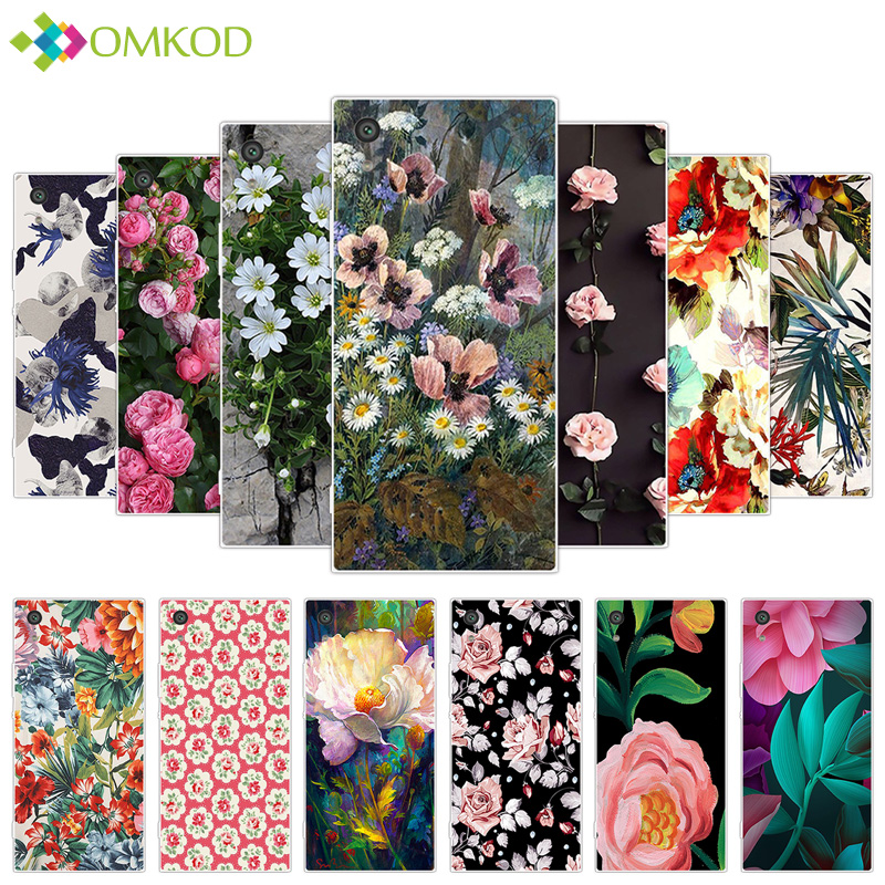 For Sony Xperia XA1 Ultra 6.0 inch Soft Clear Silicone Fundas For Sony Xperia XA1 Ultra for XA1 Ultra Phone Flowering Cases
