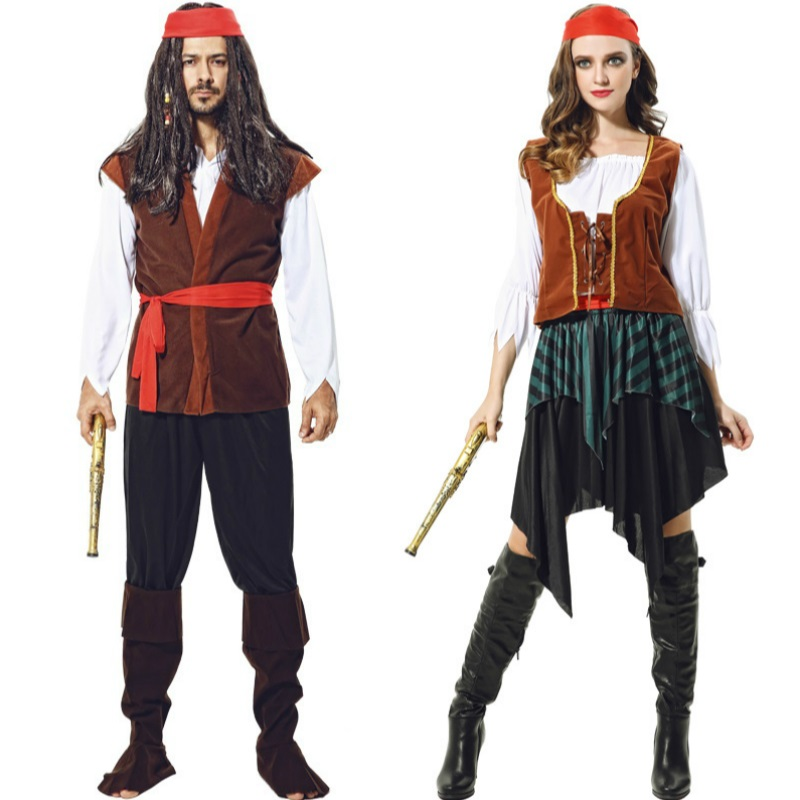 Anime Cosplay For Captain Jack Movie For Pirates Of The Caribbean Women Dress Vestidos Costume Adult Halloween Party In Carnival
