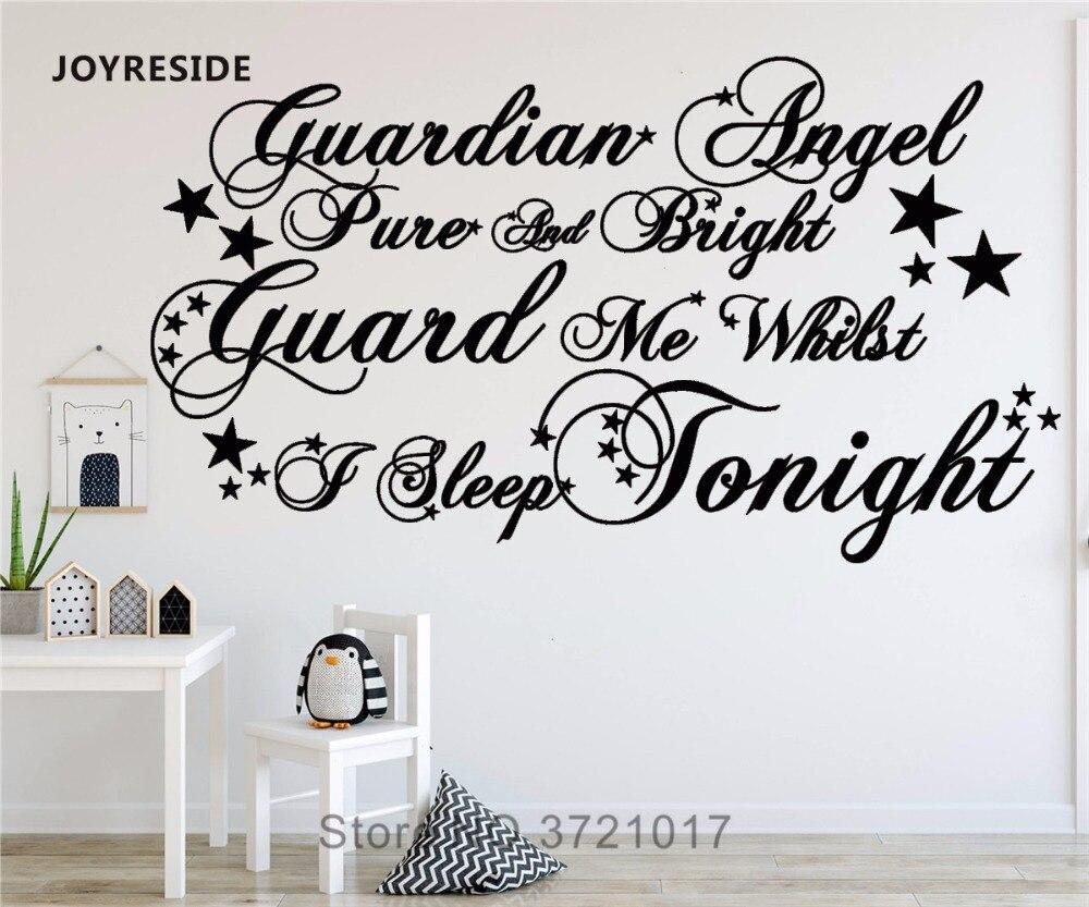 Joyreside Words Guardian Angel Wall Decal Vinyl Sticker Home Baby