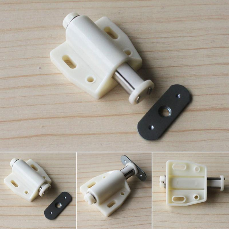 Wholesale 4pcs Open Magnetic Door Drawer Cabinet Latch Catch Touch Kitchen Cupboard With Iron Sheet Top