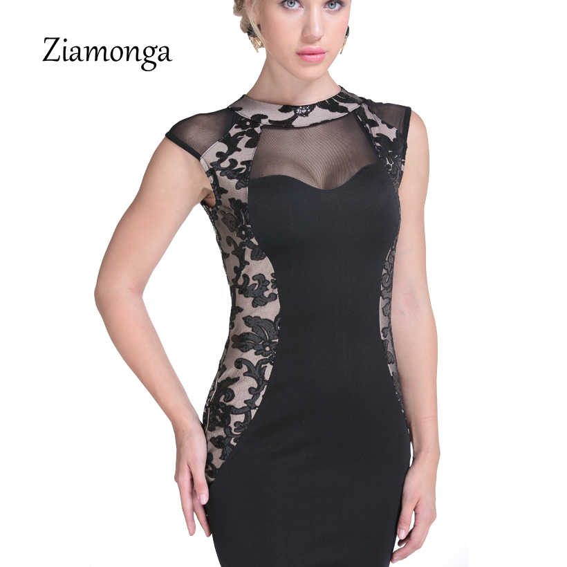212641533a Sexy Elegant Black Party Dresses Women Evening Party Dress 2017 Summer Lady  Wear Slim Vestidos Femninos Lace Sequined Long Dress