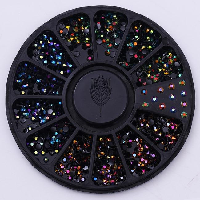 Смешанный цвет камень-хамелион Стразы для ногтей маленькие Необычные бусины Маникюр 3D дизайн ногтей украшения в колесиках аксессуары - Цвет: Pattern 12