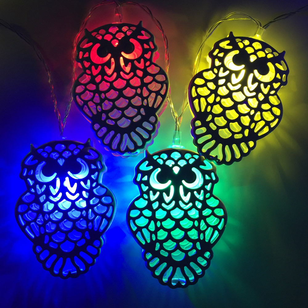 FGHGF 10 Light Designed Owl Light String Decorative Light Solar Light String Christmas Lantern Hot Sell Drop Shipping Promotion