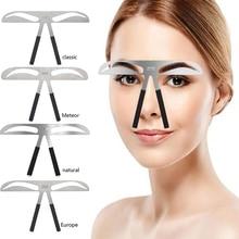 Microblading Eyebrow BALANCE ไม้บรรทัดโลหะ TATTOO Shaping Stencil แต่งหน้า Caliper ไม้บรรทัด