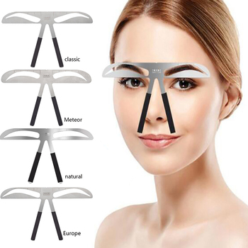 Microblading Eyebrow Balance Ruler Metal Tattoo Shaping Stencil Permanent Makeup Caliper Eyebrow Ruler