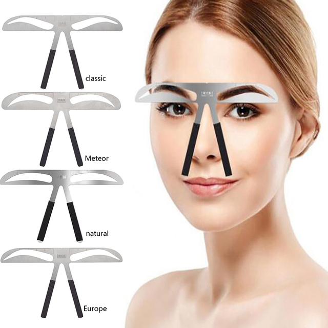Microblading Eyebrow Balance Ruler Metal Tattoo Shaping Stencil Permanent Makeup Caliper Eyebrow Ruler